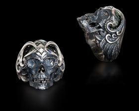 Mortality Skull w/Pearl RIng