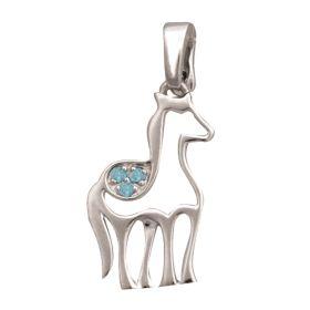 Birth Gem Horse Silhouette Charm