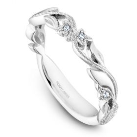14K Noam Carver Stackable in White Gold with  6 Round Diamonds