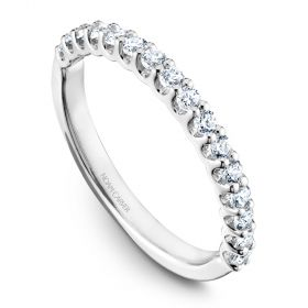 14K Noam Carver Stackable in White Gold with  16 Round Diamonds