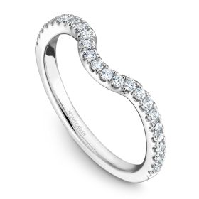 14K Noam Carver Stackable in White Gold with  25 Round Diamonds