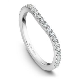 14K White Gold Noam Carver Matching Band 22 Round Diamonds.