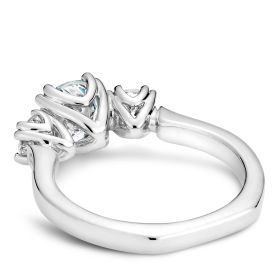 14K White Gold Noam Carver Engagment ring 2 Round Diamonds. Center Stone not included.