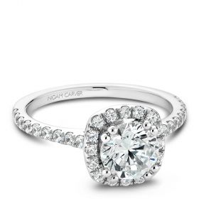 14K White Gold Noam Carver Engagment ring 42 Round Diamonds. Center Stone not included.