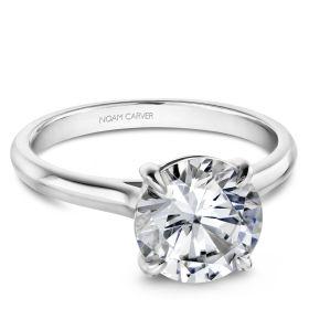 14K White Gold Noam Carver Engagment ring. Center Stone not included.