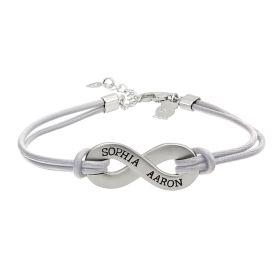 Engravable Infinity Bracelet