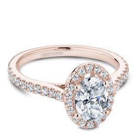 14K Rose Gold Noam Carver Engagment ring 40 Round Diamonds. Center Stone not included.