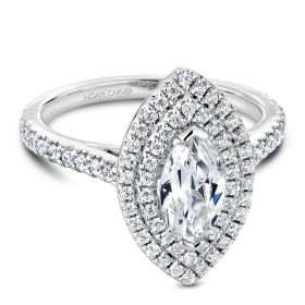 14K White Gold Noam Carver Engagment ring 72 Round Diamonds. Center Stone not included.