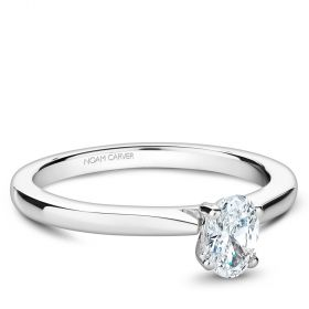 14K White Gold Noam Carver Engagment. This price includes the center stone. Center Stone not included.