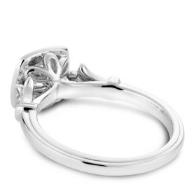 14K White Gold Noam Carver Engagment ring with 26 Round Diamonds. Center Stone not included.