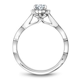 14K White Gold Noam Carver Engagment ring with 38 Round Dimamonds. Center Stone not included.