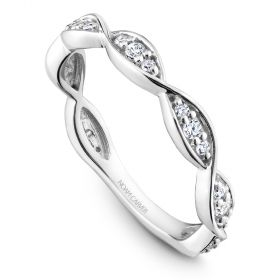 14K Noam Carver Stackable in White Gold with  21 Round Diamonds