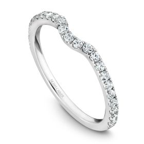 14K Noam Carver Stackable in White Gold with  23 Round Diamonds
